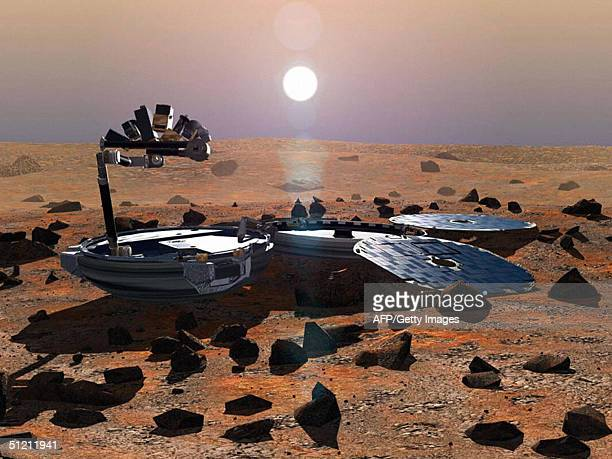 This May 2002 image shows a simulation of Beagle 2 on the martian surface The fate of Beagle 2 was no clearer 24 August after the publication of a...
