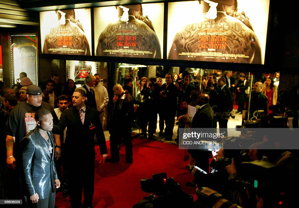 US rap artist 50 cent arrives for the UK premiere of