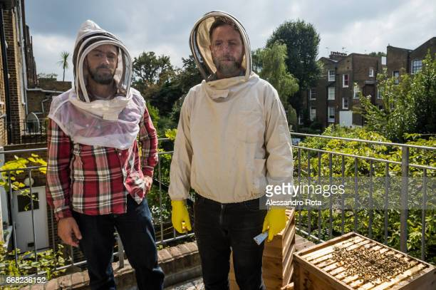 London Urban beekeepers Chris Barnes Paul Webb the London based beehive rental company set up in 2013 looks after bee hives across the city Urban...
