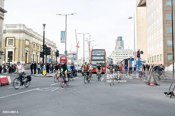 London urban street scene - Typical traffic scene