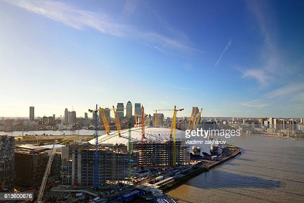 london view - the o2 england stock pictures, royalty-free photos & images
