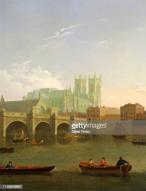London, Westminster Abbey and Bridge Westminster Abbey and Westminster Bridge Seen from the South, Joseph Farington, 1747-1821, British