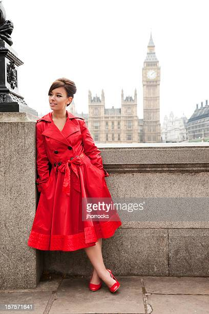 london woman in red - victorian erotica stock photos and pictures