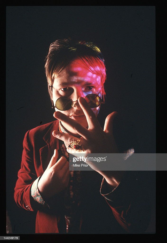 Andy Partidge from XTC and Dukes of the Stratosphear posed in London circa 1990.
