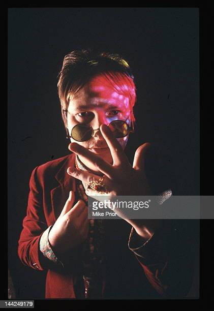 Andy Partidge from XTC and Dukes of the Stratosphear posed in London circa 1990