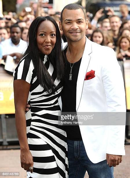 Angelica Bell and Michael Underwood attend the 'Salt' Premiere at the Empire Cinema, Leicester Square on August 16, 2010 in London.