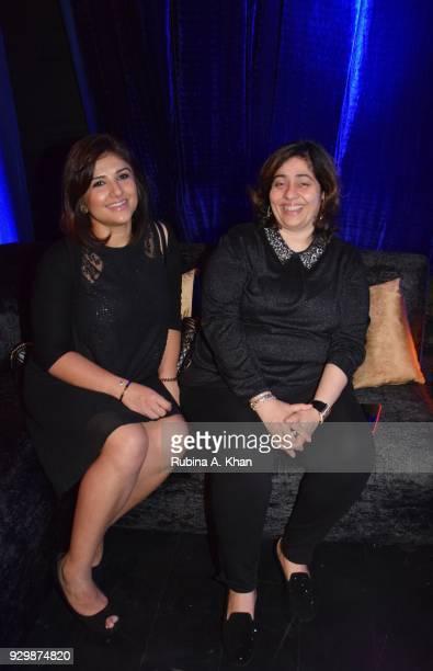 Londonbased makeup artist Gaayatri Dhawan and Nitasha Nanda granddaughter of the late Bollywood legend Raj Kapoor at the second edition of Chivas...