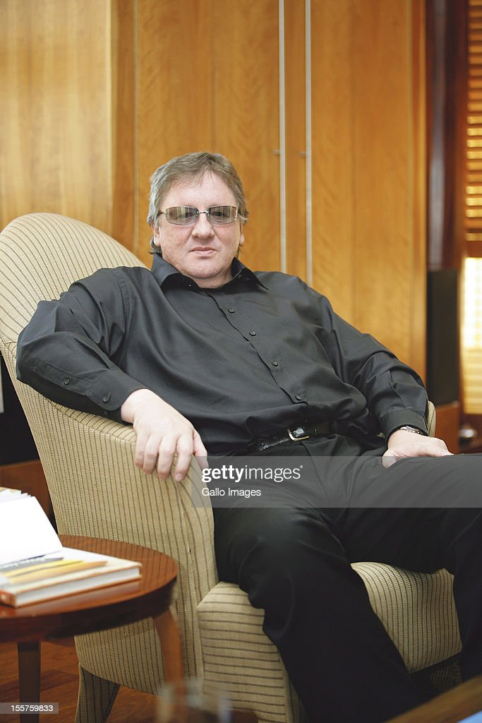 London-based South African business mogul Douw Steyn poses on August 14, 2006 in Johannesburg, South Africa.