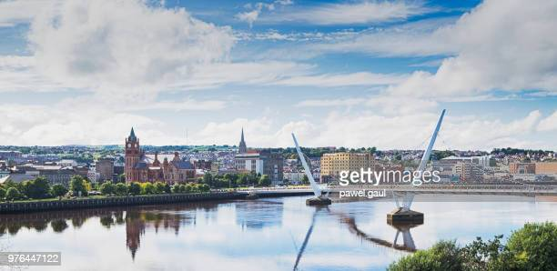 londonderry, derry northern ireland uk - northern ireland stock photos and pictures