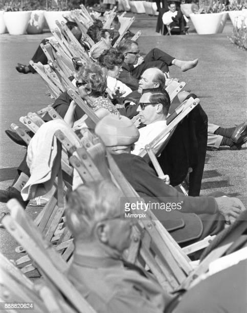 Londoners enjoying the summer sunshine in Embankment Gardens 3rd June 1968