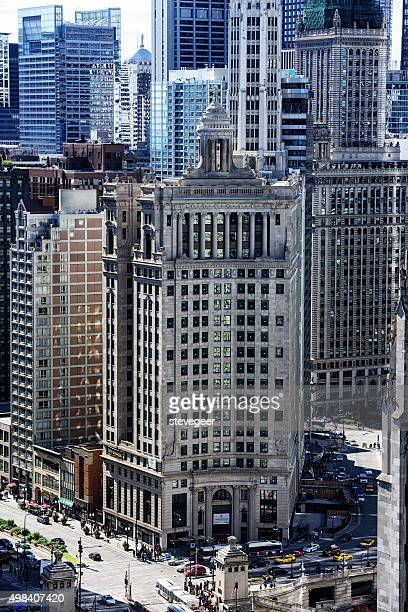 londonhouse hotel viewed from above - wacker drive stock photos and pictures