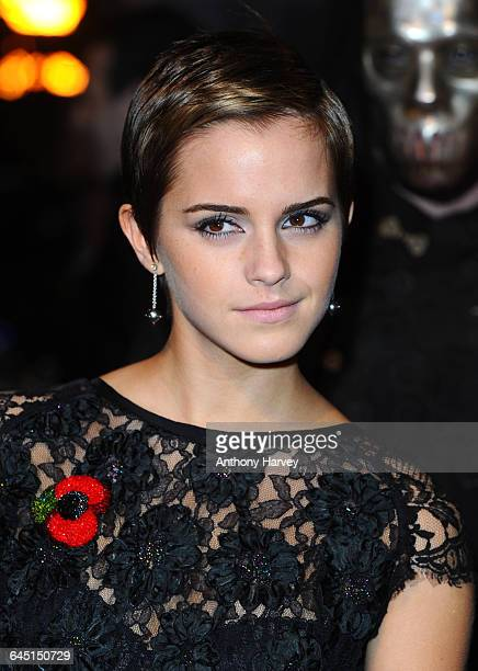 Actress Emma Watson attends the 'Harry Potter and the Deathly Hallows Part 1' World Premiere at the Odeon Cinema Leicester Square on November 11 2010...