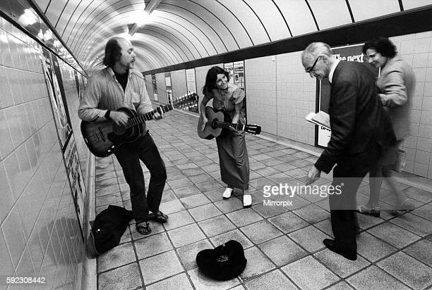 """London's """"buskers"""" - itinerant street musicians - are going underground. Each day they go down to the maze of tunnels at stations in the underground..."""