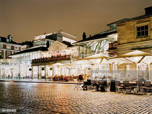 london's covent garden at night - covent garden - fotografias e filmes do acervo