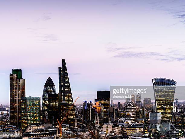 London's financial centre from high up