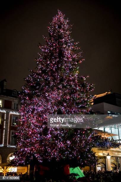 Covent Garden Christmas Lights Switch On Stock Photos And Pictures