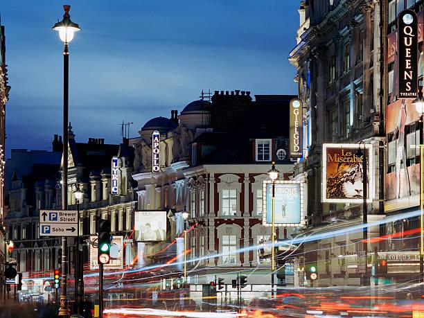 London's Shaftesbury Avenue At Dusk Wall Art