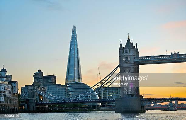 London's Shard and Tower Bridge