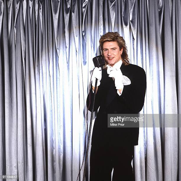 Simon Le Bon lead singer with Duran Duran posed in London in 1995