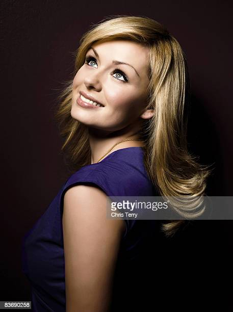 Singer Katherine Jenkins poses for a portrait shoot for Voyager magazine in London on April 10 2007