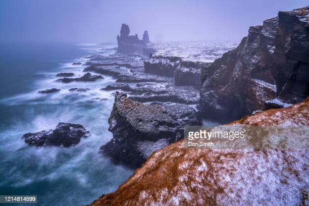 londrangar and north atlantic - don smith stockfoto's en -beelden