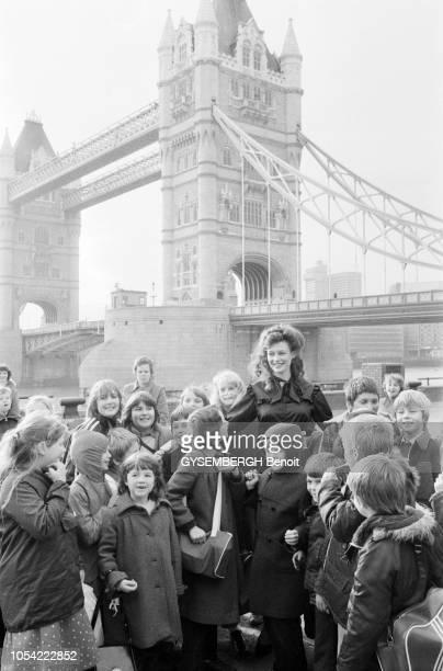 Londres RoyaumeUni 13 novembre 1980 Election de Miss Monde 1980 au Royal Albert Hall L'Allemande Gabriella BRUM remporte le concours Elle renoncera à...