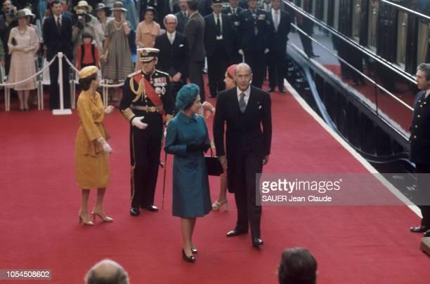 Londres RoyaumeUni 22 juin 1976 Visite officielle du président de la République française Valéry GISCARD D'ESTAING en Angleterre Son arrivée à la...