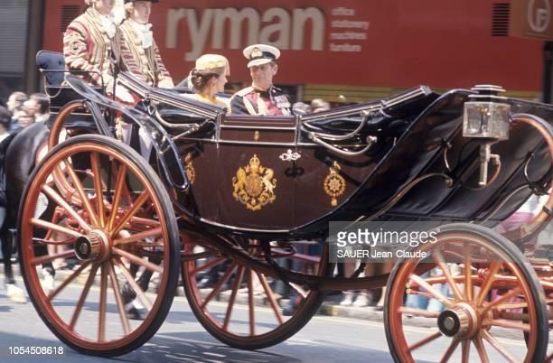 Londres RoyaumeUni 22 juin 1976 Visite officielle du président de la République française Valéry GISCARD D'ESTAING en Angleterre AnneAymone GISCARD...