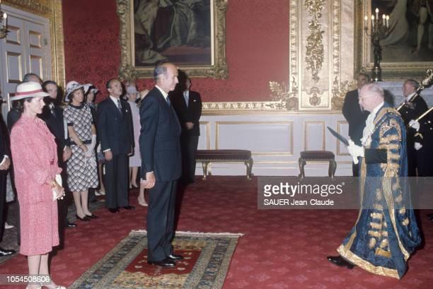 Londres RoyaumeUni juin 1976 Visite officielle du président de la République française Valéry GISCARD D'ESTAING en Angleterre du 22 au 25 juin Comme...