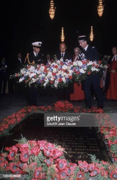 Londres RoyaumeUni juin 1976 Visite officielle du président de la République française Valéry GISCARD D'ESTAING en Angleterre du 22 au 25 juin Valéry...