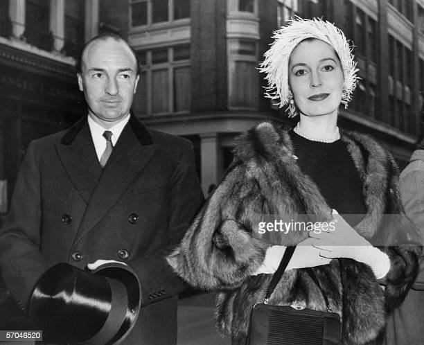 This file picture taken in the 1960's of former British War State Secretary John Profumo and his wife Valerie Hobson at the time when he was at the...