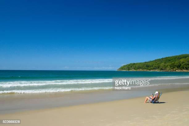 Lone Beachgoer at Noosa on Australia's Sunshine Coast