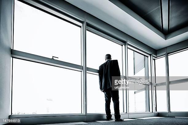 Lone businessman