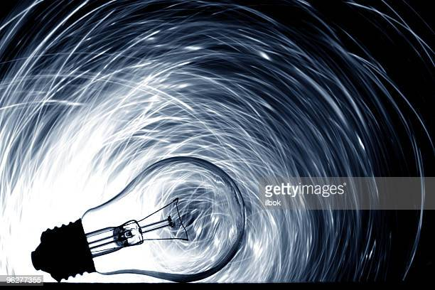 Lone clear lightbulb over a light vector background
