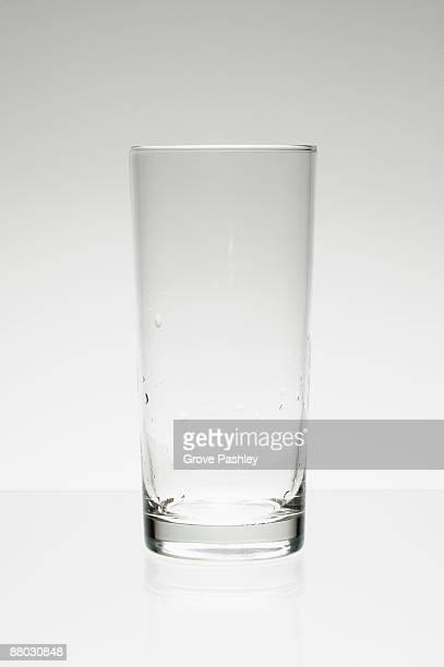 Lone empty water glass