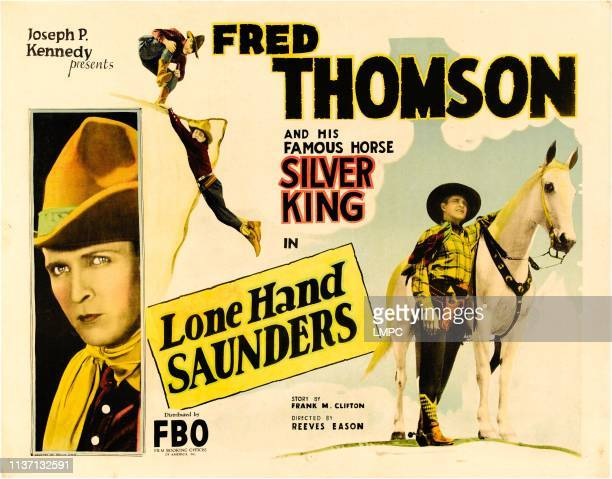 Lone Hand Saunders poster Fred Thomson 1926
