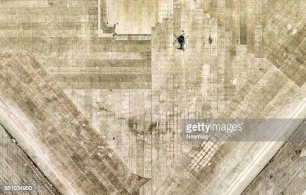 lone helicopter on base, florida, usa - airfield stock pictures, royalty-free photos & images