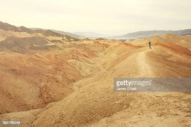 lone hiker in baron landscape