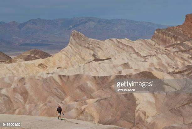 Hiker near Zabriskie Point