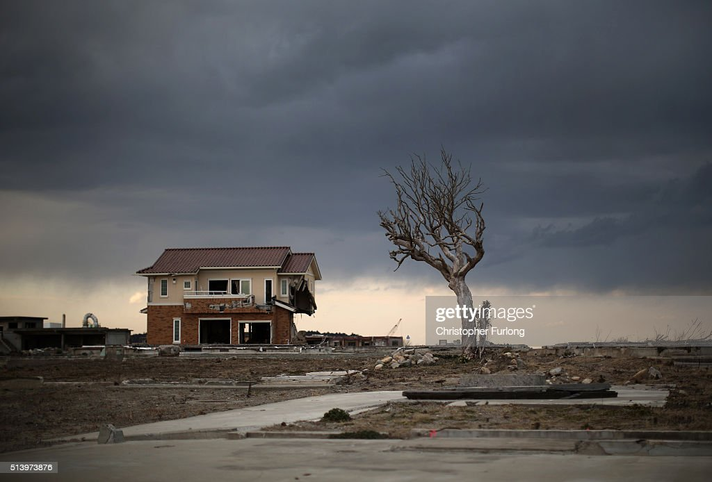 Homes And Businesses In Fukushima As Five Year Anniversary Of Devastating Tsunami Approaches : News Photo