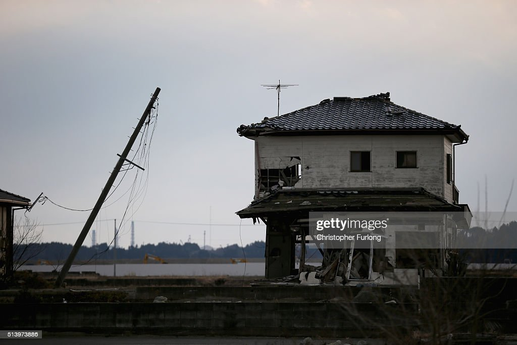A lone house sits on the scarred landscape, inside the exclusion zone, close to the devastated Fukushima Daiichi Nuclear Power Plant on February 26, 2016 in Namie, Fukushima Japan. The area is now closed to residents due radiation contamination from the Fukishima nuclear disaster. March 11, 2016 marks the fifth anniversary of the magnitude 9.0 earthquake and tsunami which claimed the lives of 15,894, and the subsequent damage to the reactors at TEPCO's Fukushima Daiichi Nuclear Power Plant causing the nuclear disaster which still forces 99,750 people to live as evacuees away from contaminated areas.