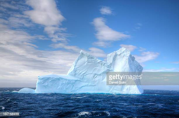 lone iceberg just off coast of south georgia - berg stock pictures, royalty-free photos & images