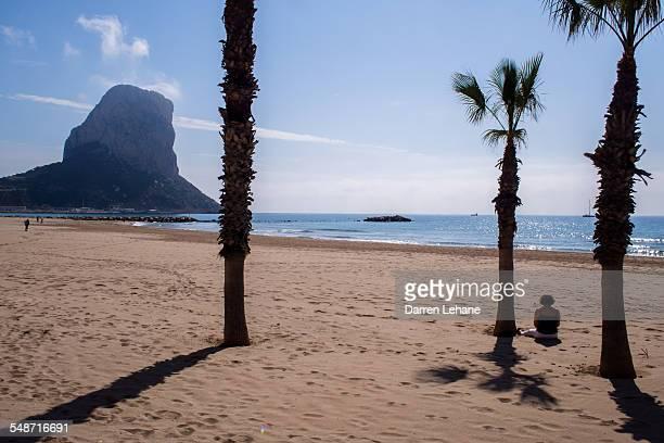 A lone lady on Calpe beach