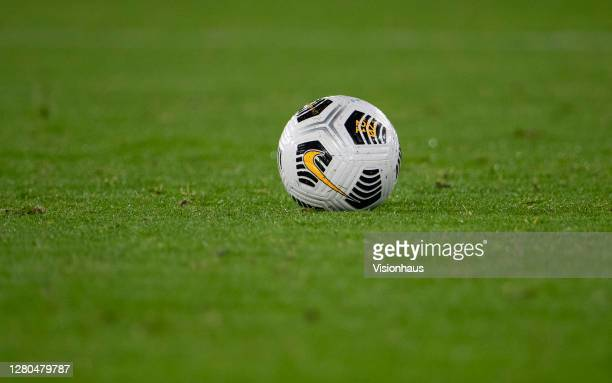 Lone Nike football during the UEFA Euro Under 21 Qualifier match between England U21 and Turkey U21 at Molineux on October 13, 2020 in Wolverhampton,...