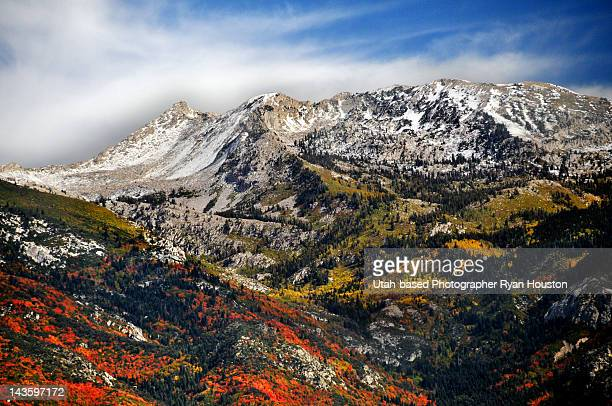 lone peak wilderness area - lehi stock photos and pictures