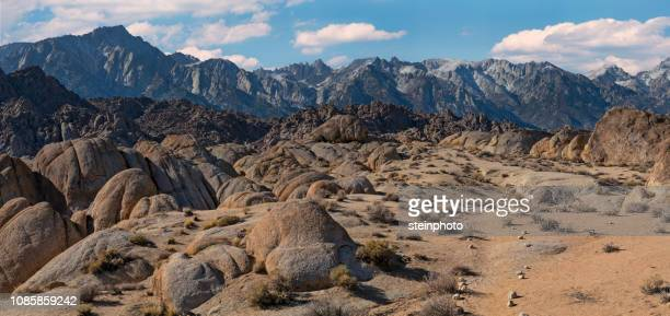 lone pine california - extreme terrain stock pictures, royalty-free photos & images