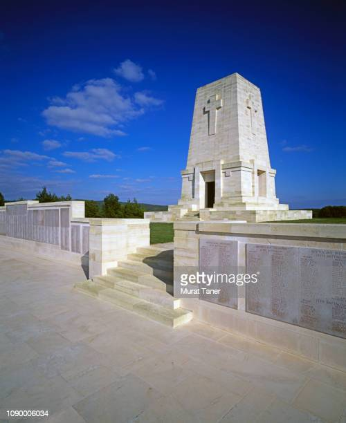 lone pine memorial at gallipoli - memorial plaque stock pictures, royalty-free photos & images