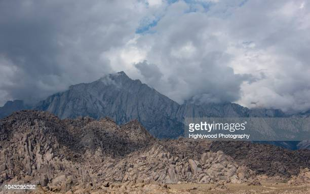 lone pine mountain - highlywood stock photos and pictures