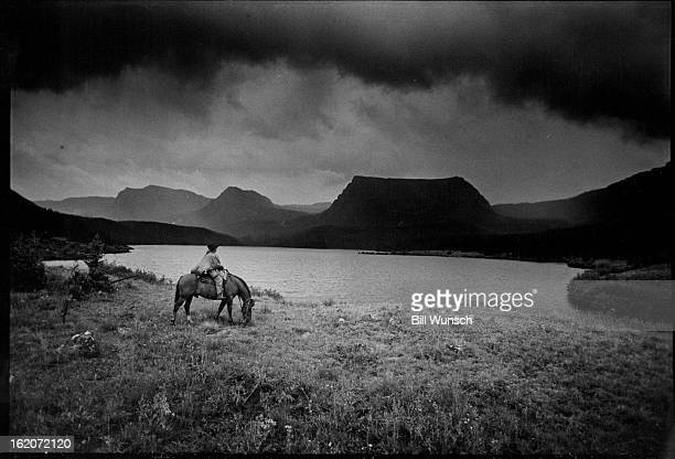 AUG 1977 AUG 12 1977 AUG 14 1977 SEP 17 1977 SEP 18 1977 Lone Rider Sizes Up Challenge Ahead At The Main Entry To The Flat Tops Wilderness Area In...