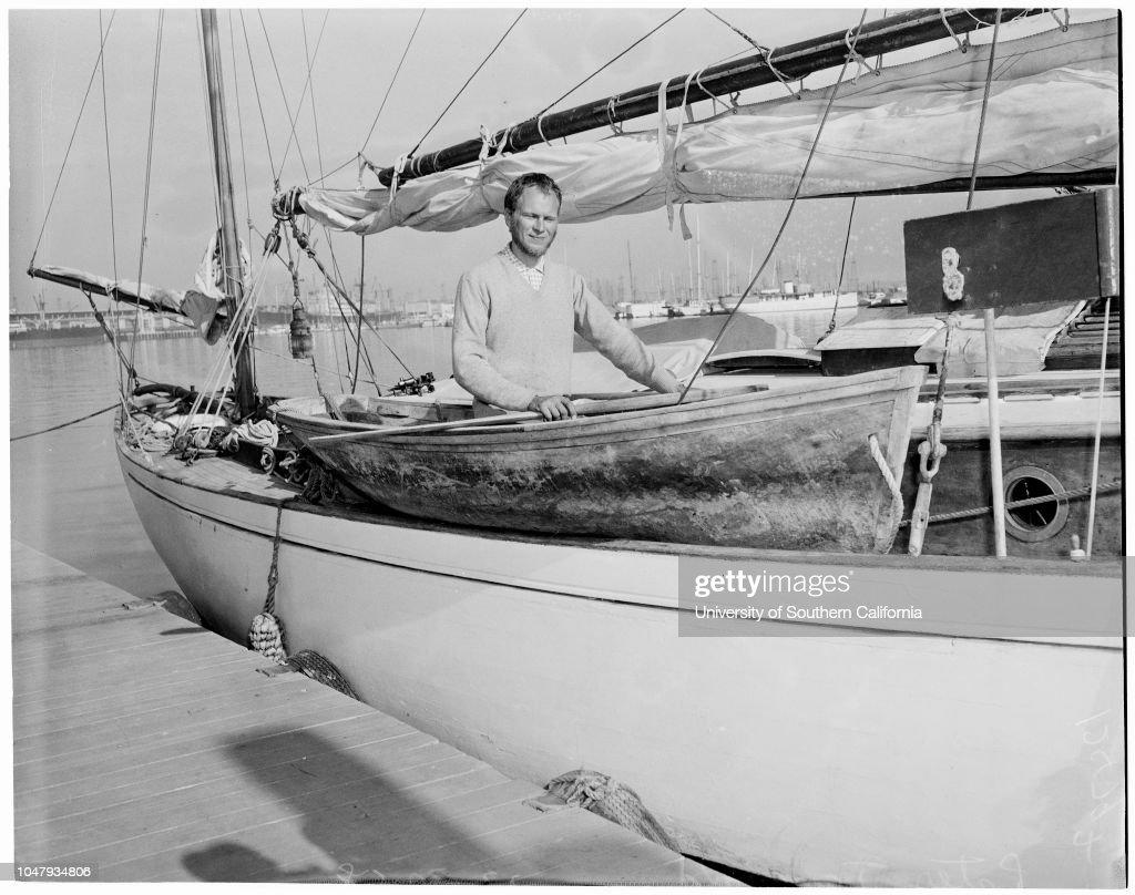 Lone sailor, 1958 : Fotografía de noticias